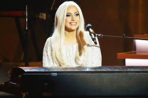 LOS ANGELES, CA - FEBRUARY 10:  Lady Gaga performs onstage during the Stevie Wonder: Songs In The Key Of Life - An All-Star GRAMMY Salute held at Nokia Theatre L.A. Live on February 10, 2015 in Los Angeles, California.  (Photo by Michael Tran/FilmMagic)